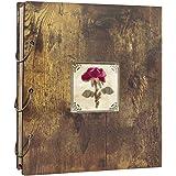 Amazon Brand – Umi Album Photo 10 x 15cm en Bois, Album de Bricolage avec la couverture de Fleur Séché, 500 photos