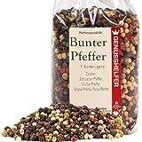 Bunter Pfeffer 150 Gramm ganz Pfeffermischung aus 4 Sorten Pfeffer, geeignet für die Pfeffermühle, ohne Zusatzstoffe - Bremer Gewürzhandel