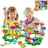BAISIQI Jouets pour Les 3-6 Ans Jouet Fille Joy-Fun Fleur Jeux De Constructions Jeux Creatifs pour Les Enfants 98 PCS Bloc De