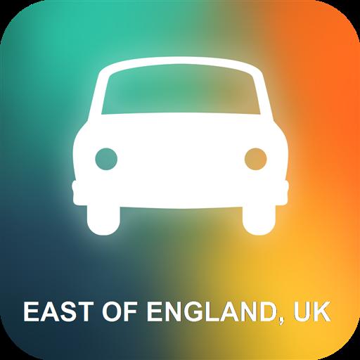 Al este de Inglaterra, Reino Unido GPS