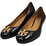 Tory Burch Womens Everly 35 Mm Nappa Leather Cap Toe Wedge Heels Shoes Perfect Black 004 (US