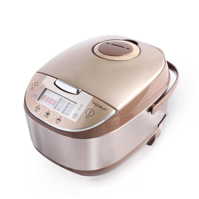 Aigostar Golden Lion 30HGY – Robot de cocina multifunción, 5L, libre de BPA. 918 W, 11 funciones programables, tapa extraíble y lavable, temporizador programable y función mantener caliente.