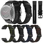 Woven Nylon Sweatproof Watch Band Strap for Garmin Fenix 5X/5X Plus/Fenix 3/3HR