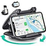 Amaozn Brand - Eono Support Telephone Voiture, Fixation Rotatif à 360° pour Téléphone, pour Tableau de Bord de Voiture, avec