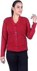 eWools Women's Ladies Girls winter wear woolen Cardigan (Lycra)