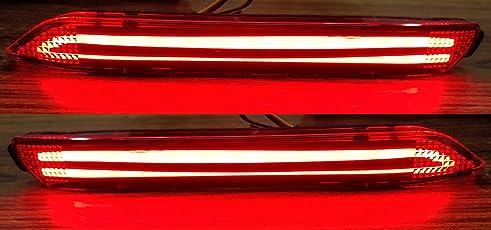 Autoxygen Back Bumper Rear Reflector DRL Toyota Innova - Set of 2 Pcs
