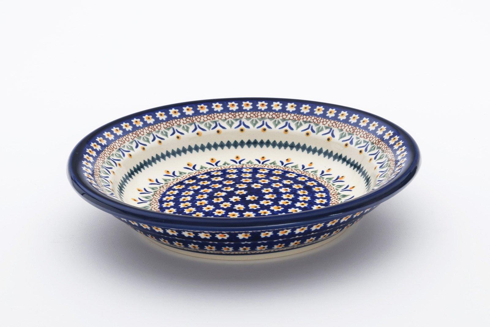 Boleslawiec Pottery Hand Made Pasta Bowl, pattern 104AR