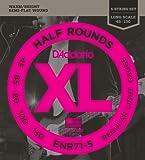 D'Addario ENR71-5 Bass 5-Saiter XL Nickel Saitensatz 0,11 cm - 0,33 cm (.045 .130 Zoll)
