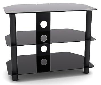 Fernsehschrank lcd  RICOO Fernsehtisch Glas Tisch TV Rack FT501S LCD TV: Amazon.de ...