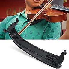 Violin Shoulder Rest for 3/4 4/4 Violin, Adjustable Hard Plastic Violin Shoulder Rest Pad with Soft EVA Foam