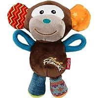 GiGwi Monkey 'Plush Friendz' with Squeaker, Medium, Brown