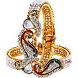 YouBella Multicolour Gold-Plated Bangles for Women
