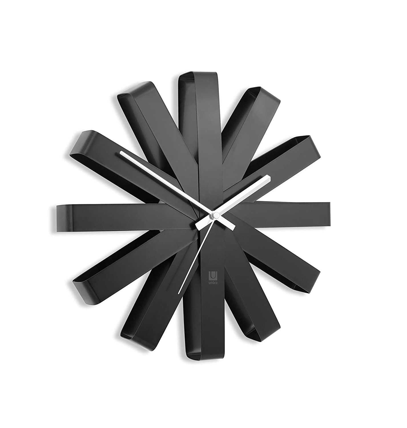Umbra ribbon horloge murale acier brossé nickel 30 cm: amazon.fr ...