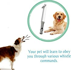 SRI Dog Training Whistle for Barking Control with Lanyard (White)