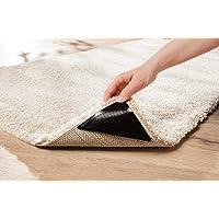 WohnDirect Teppich Anti Rutsch Unterlage Set - 4 Ecken - Plus 4 zusätzlichen Fixierungen - ideale Teppichunterlage…