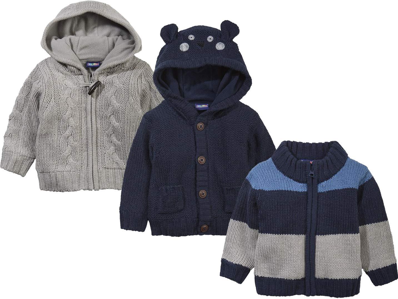 lupilu® Baby Jungen Strickjacke mit weichem, wärmendem Teddyfutter