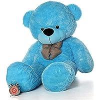 Frantic Teddy Bear with Neck Bow Premium Quality Soft Plush Fabric (Sky, 3 Feet)
