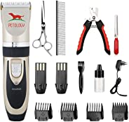 Petology Professional Automatic Rechargeable Pet Hair Trimmer with Extra Battery for Dogs