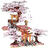 Sunbary Kersenboom bouwstenen met bouwplaten, 1814+ delen Sakuraboom bouwset met lichteffecten, bonsai-bloem, botanische coll