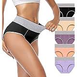Shessexy Underwear Women, Cotton Ladies Knickers Mid Waist Soft Panties Womens Underwear Briefs Full Coverage Hipster Breatha