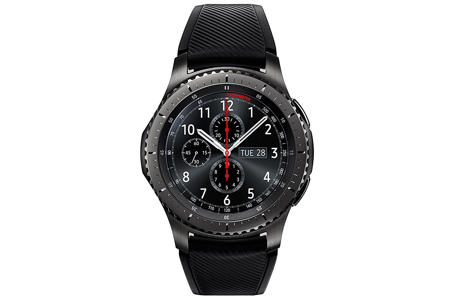 "Samsung Gear S3 Frontier - Smartwatch Tizen (pantalla 1.3"" Super AMOLED 360x360, GPS integrado, batería 380 mAh, altavoz integrado), color Gris (Space Gray)- Version española 1"
