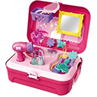 VIEL SPIEL® Vanities Pretend Beauty Dressing Make Up Kit Table Kids Toys for Girls