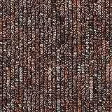 Teppichboden Auslegware | Büro Schlinge gemustert | 400 und 500 cm Breite | orange braun | Meterware, verschiedene Größen | Größe: 1 Muster