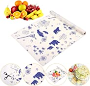 Baiwka Beeswax Food Wrap Reusable - Roll (13 X 39 Inch),Eco-Friendly Sustainable Food Storage For Sandwich, Cheese, Fruit, Br