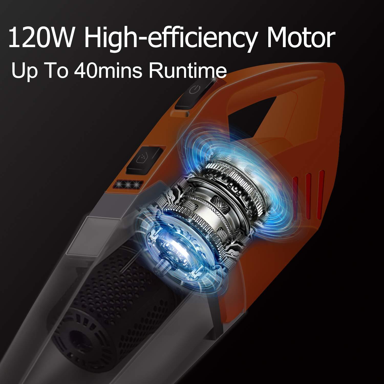Aspirapolvere Verticale con Spazzola a LED 2 Regolabile Velocit/à Scopa Elettrica 2 in 1 con Batteria Ricaricabile Autonomia Fino a 60 Minuti Filtro HEPA Lavabile Deik Aspirapolvere Senza Fili
