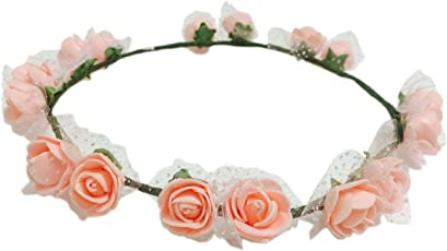 Loops n Knots Pataka Collection Peach Color Tiara/Crown/Headband for Girls & Women -Hair Accessories for Birthday,Party & Wedding