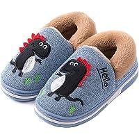 SMajong Pantofole Bambino Ciabatte Animali per Ragazze e Ragazzo Pantofole Antiscivolo Invernali Home Morbido Scarpe…