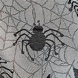 LAEMILIA Halloween Vorhang Spitze Fledermaus Spinnennetz Gothic Party Wand Fenster Kamin Abdeckung Deko - 7