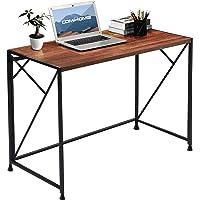COMHOMA Schreibtisch, Computertisch klappbar, ohne Montage Bürotisch im Industriedesign, perfekt für Heimbüro, 100 x 50…