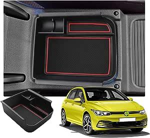Ruiya Golf 8 Mk8 Armlehne Aufbewahrungsbox Mittelkonsole Organizer Mit Antirutschmatten Angepasst Autozubeh 2020 Update Rot Auto