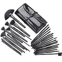 Cadrim Pinceaux Maquillage Cosmétique Professionnel 32pcs Set/Kit Cosmétique Brush Beauté Maquillage Brosse Makeup Brushes Cosmétique Fondation avec Sac Noir