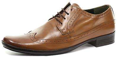 Frank James kester Tan Mens Lace Up Brogue Shoes Size UK 8