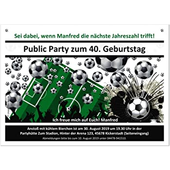 Moderne Einladungen Fussball Tor Zum Geburtstag Mit Spruch Coole
