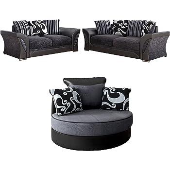Sensational Ye Perfect Choice Sofa Set Mia Corner Sofa Sofas Armchair Swiver Modern Couch Seater Grey And Black Big Sofa Small Sofa Swivel Armchair Theyellowbook Wood Chair Design Ideas Theyellowbookinfo