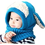 ANBET Gorro unisex para beb/é para ni/ños y ni/ñas forro polar con capucha gorro c/álido con orejas 1-4 a/ños