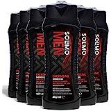 Marchio Amazon - Solimo Gel doccia uomo energizzante-Confezione da 6 (6 flaconi x 400 ml)