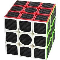 Coolzon Puzzle Cube 3x3x3 Nouveau Cubo Autocollant de Carbone Fibre Ultra Rapide