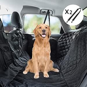 Youfen Hunde Autoschondecke Hundedecke Rückbank Hundedecke Auto Kofferraum Für Haustiere Hundedecke Rückbank Wasserdichte Mit Sichtfenster Hundeschutzdecke Rücksitz Für Auto Und Suv Schwarz Haustier