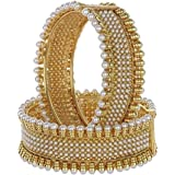 Jewels Galaxy Metal Copper and Cubic Zirconia Bangles for Women & Girls