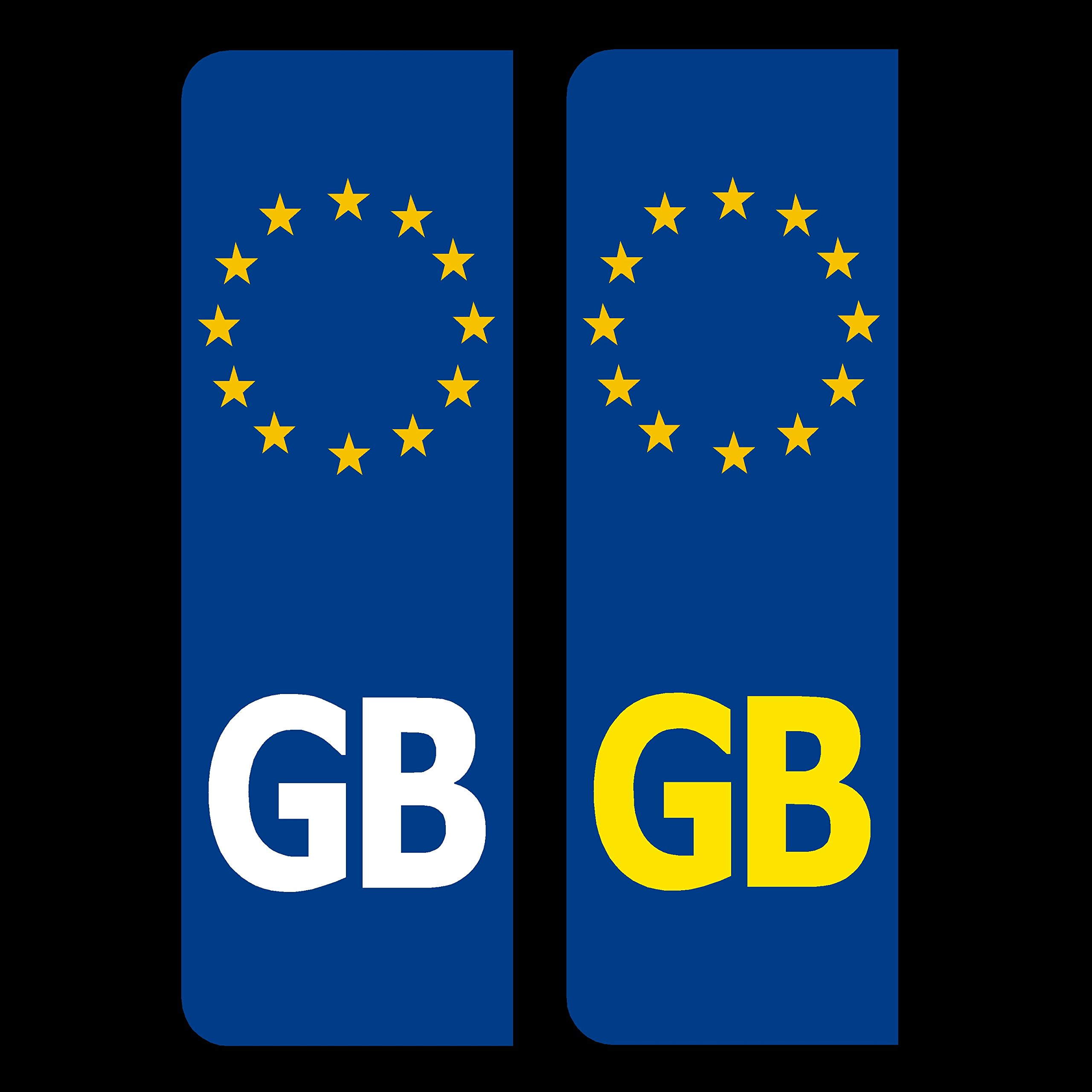 Road Legal GB United Kingdom Symbol Car REFLECTIVE Vinyl Sticker Number Plate Decal for European Roads after BREXIT GB EU flag stickers