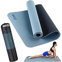 BAKAJI Tappetino Yoga in TPE Ecologioco Doppio Strato Antiscivolo Alta Densità Materassino Tappeto Allenamento Fitness…