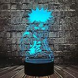 Naruto Sasuke Lamp Japan Anime Actie Bros Shikamaru Cartoon 3D Optische Illusie LED Acryl Uzumaki Naruto 7 Kleur USB Verander