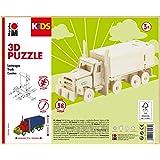 Marabu 0317000000004 Kids - Puzzle 3D in Legno con Camion, 38 Pezzi 19 x 8 cm, Marrone