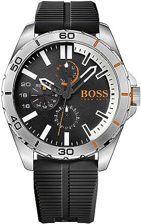hugo boss orange mens quartz watch multi dial display and hugo boss orange mens quartz watch multi dial display and silicone strap 1513290 amazon co uk watches