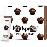 foodspring Protein Bar en paquet de 12, Muffin au chocolat, plein de goût et plein d'énergie, très peu de sucre et…