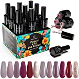 Vernis Semi Permanent, Kastiny 6 Couleur Vernis à Ongles Gels Semi-Permanents Lot, avec Primer Vernis Gel, UV LED Nail Polish